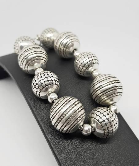 Spectacular heavy sterling silver bracelet