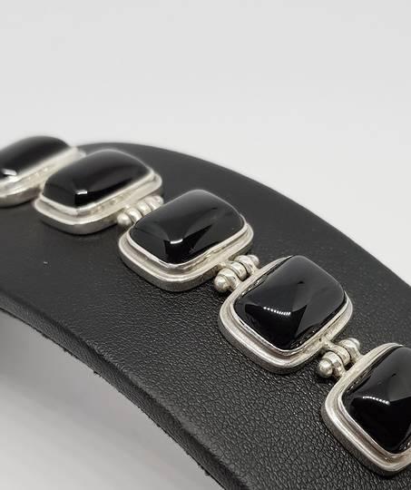 Silver Black Onyx Silver Bracelet