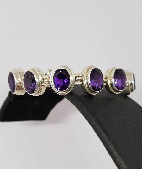 Silver Amethyst Bracelet