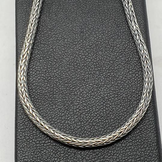 Sterling silver heavy rope chain, 50cms long