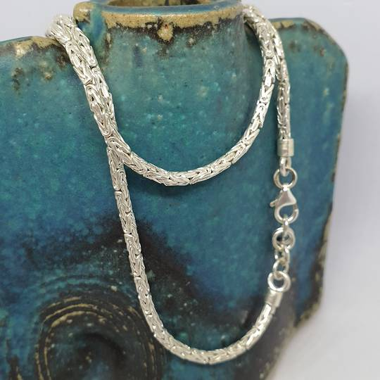 Sterling silver heavy rope chain, 45cms long