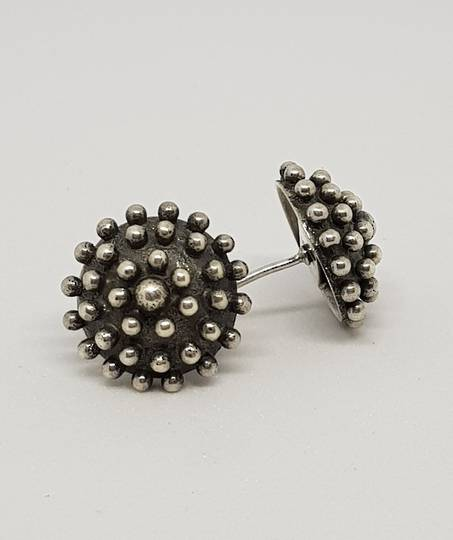 Large sterling silver stud earrings - reduced further