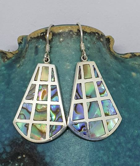 Paua shell earrings - hook style