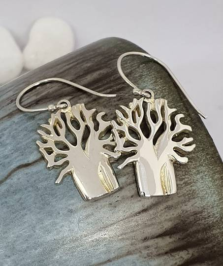 Sterling silver 925 tree of life earrings