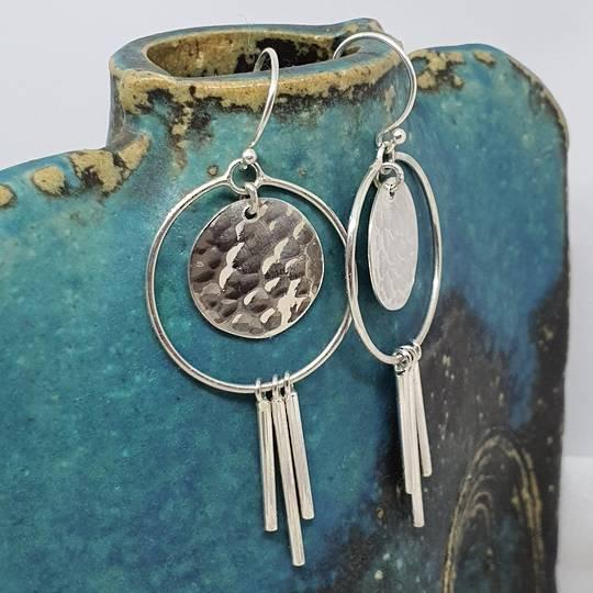 Modern funky silver earringsd