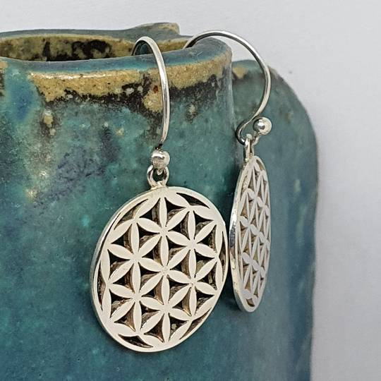 Sterling silver round infinity earrings