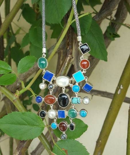 Natural gemstone necklace - colour your world today!