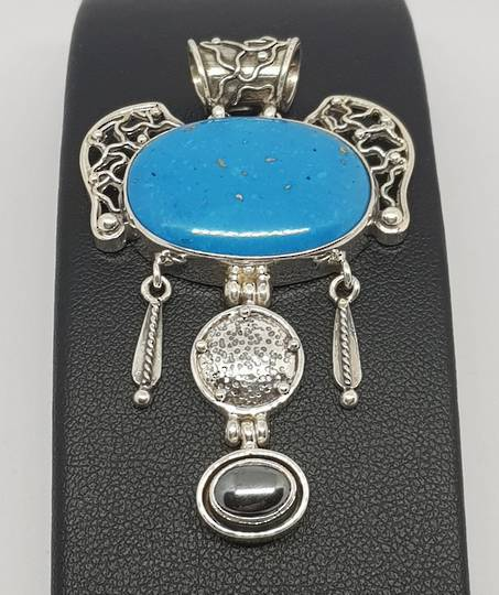 One off exquisite turquoise pendant