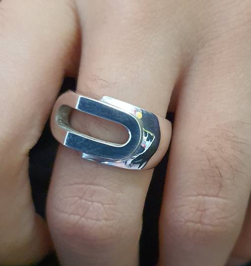 Heavy silver unisex ring