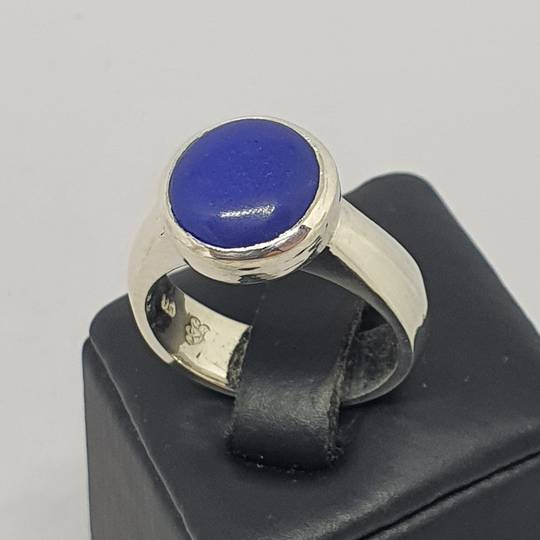 Sterling silver lapis lazuli gemstone ring, made in NZ