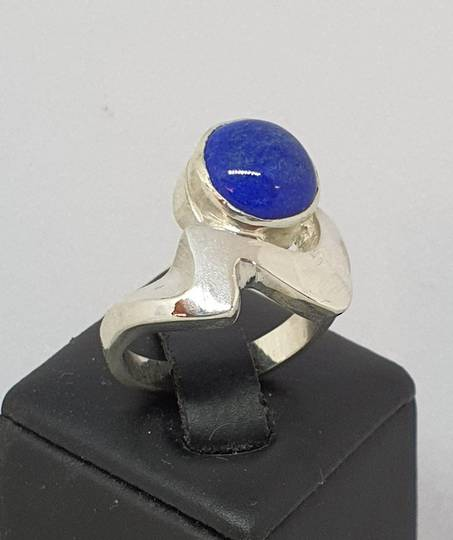 Sterling silver lapis lazuli ring, made in NZ