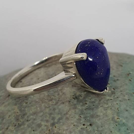 Sterling silver lapis lazuli dress ring