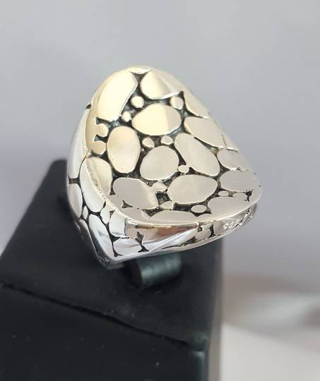 Awesome crazy paving sterling silver statement ring