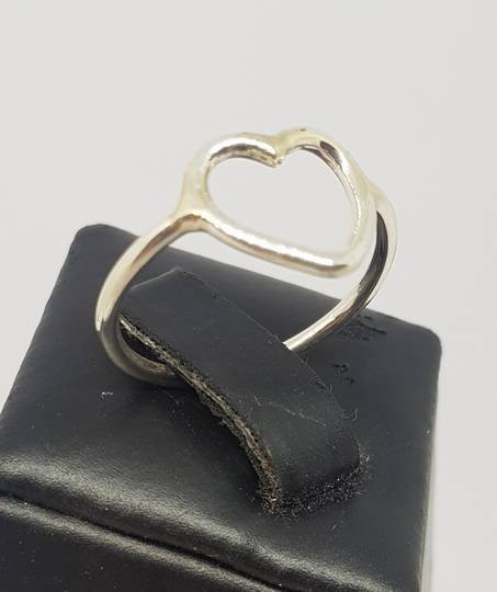 Sterling silver stacking ring with open heart
