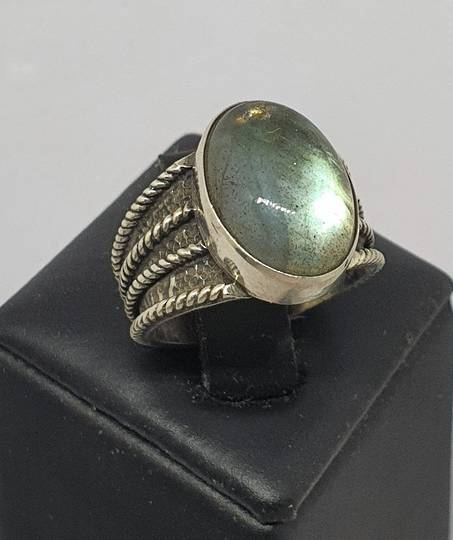 Super cute labradorite sterling silver ring