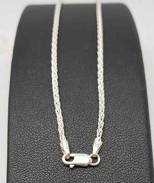 Sterling silver chain, 90cms