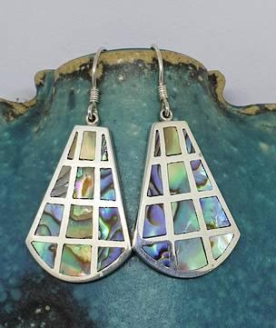Paua shell earrings - hook style