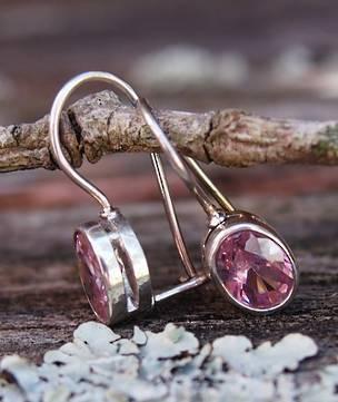 Pink gemstone earrings