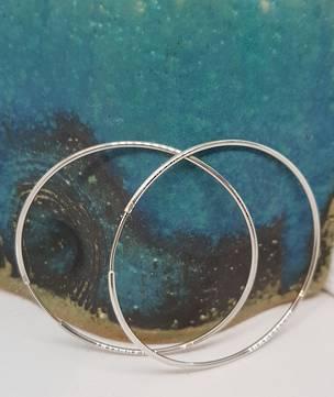 Sterling silver large, 6cms hoop earrings