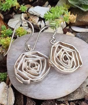 Sterling silver arty flowerearrings