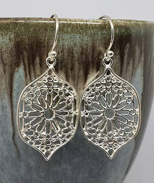 Sterling silver statement flower earrings