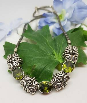 Designer peridot necklace