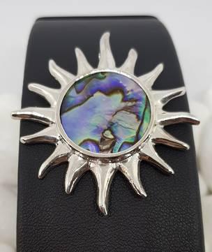 Made in NZ Silver Paua Shell Pendant