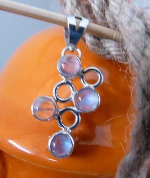 Delicate silver moonstone pendant