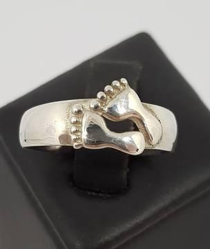 Sterling Silver Ladies Foot Ring