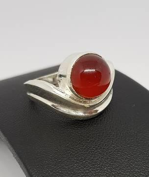 Sterling silver carnelian gemstone ring