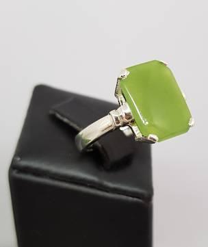 Greenstone silver ring