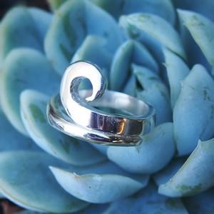 925 silver koru ring