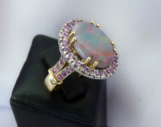 opal and sapphire gold ring NZ