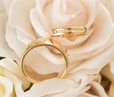 gold wedding band rings his and hers handmade SilverStone Jewellery