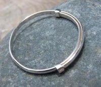 Solid Silver  Plain baby bracelet