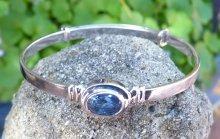blue sapphire baby bangle September birtshtone 1