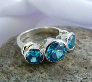 blue topaz ring made in New Zealand(copy)
