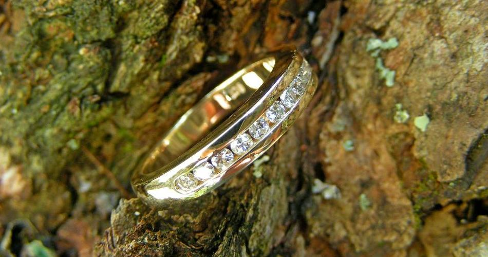 channel set gold ring remodelled from old gtold