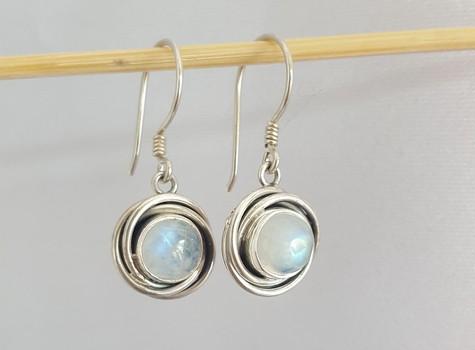 moonstone earrings silver