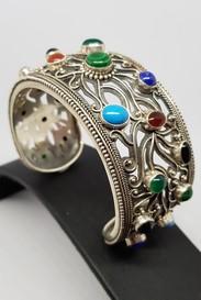 silver-multi-gemstone-cuff-bracelet