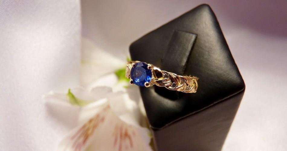 sapphire and diamond handmade engagement ring custom made engagement ring