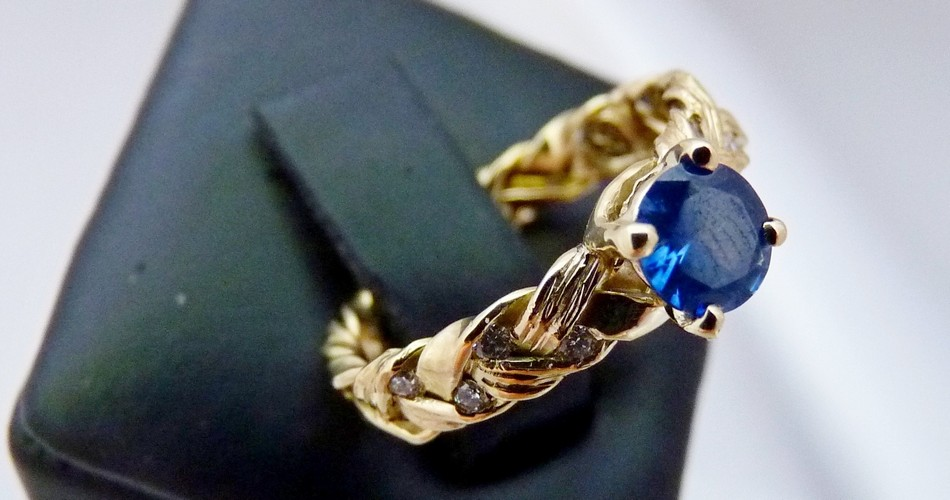sapphire diamond engagement ring handmade NZ