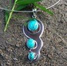 silver turquiose pendant