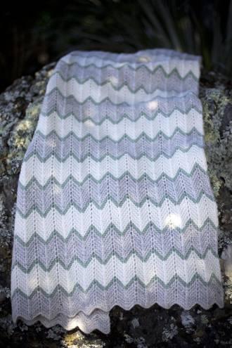 Baby Cakes Zig Zag Blanket Pattern 8 ply