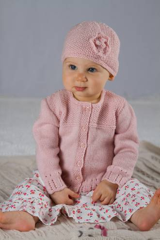 Baby Cakes Abigail Cardi and Hat 4ply