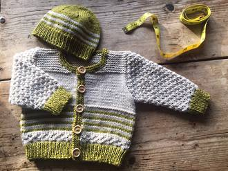 Baby Cakes Eden Cardi and Beanie 8ply