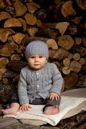 Baby Cakes Jasper Cardigan and Beanie 4ply
