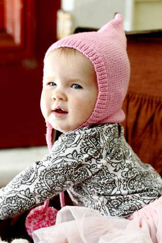 Baby Cakes Pompom Pixie Hat 4ply