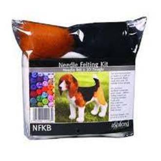 Ashford Wool Felting Kit - Beagle