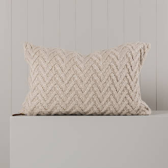 Hipi Herringbone Cushion Cover Long - Oatmeal